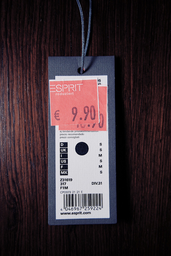 Esprit Essentials Price Tag EAN 4046967259224