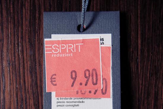 Esprit Essentials Reduced Price Tag: EUR 9.90