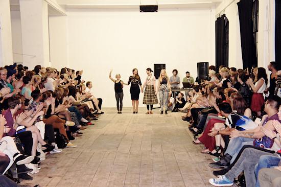 Fashion Fucked. Fashon Show @ WUK. The designers. Nina Geschl (Prinzessin auf der Erbse), Magdalena Adriane, Mark & Julia.