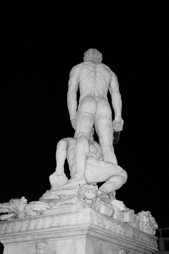 Florence: Baccio Bandinelli's Hercules and Cacus statue