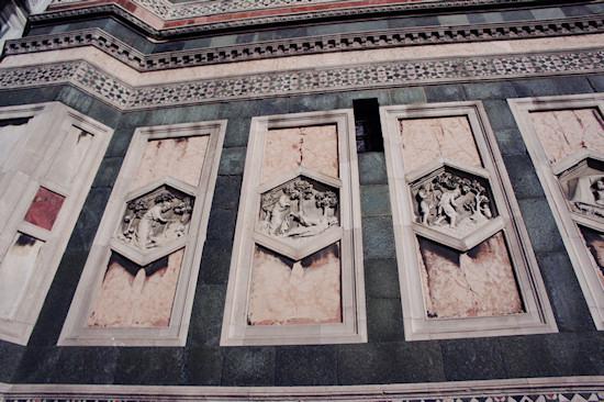 Florence: Marble panels of the Basilica di Santa Maria del Fiore