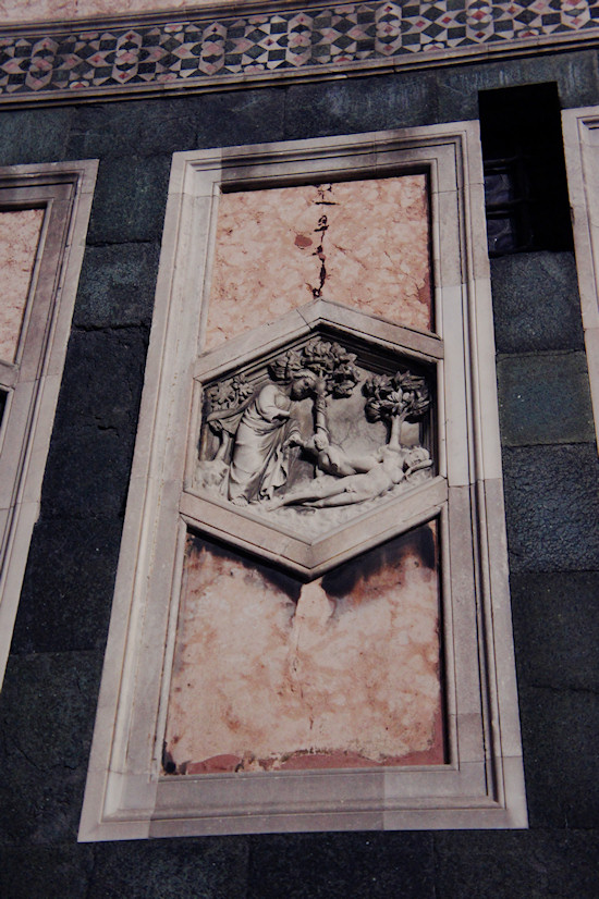 Florence: Marble panel of the Basilica di Santa Maria del Fiore