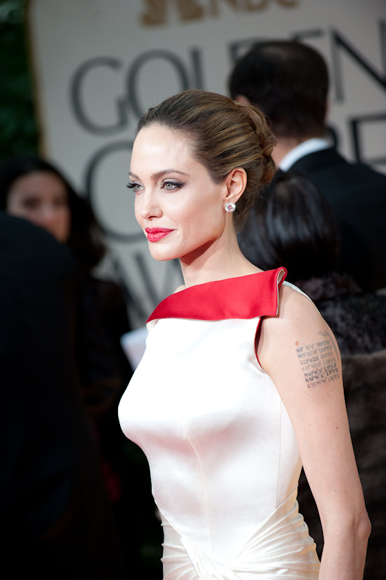 Angelina Jolie @ Golden Globe Awards 2012
