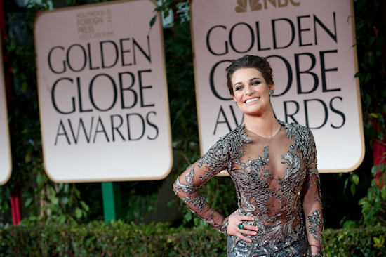 Lea Michele @ Golden Globe Awards 2012