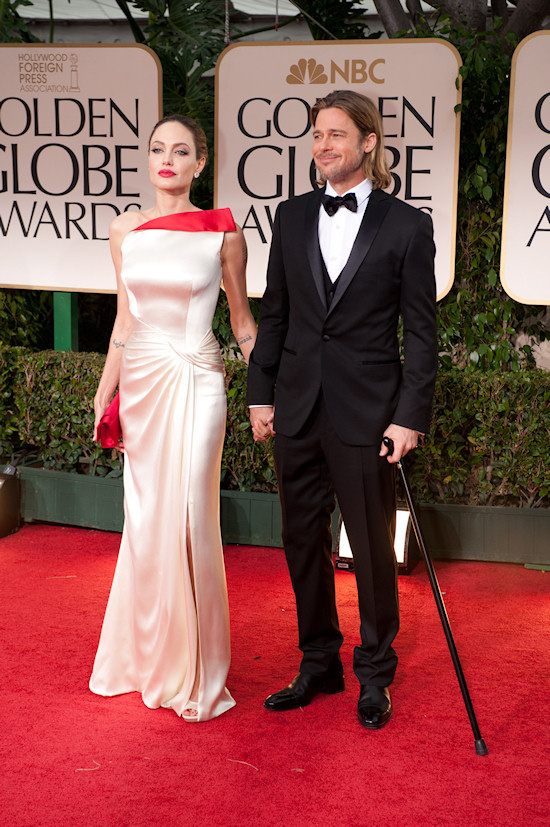 Angelina Jolie and Brad Pitt @ Golden Globe Awards 2012