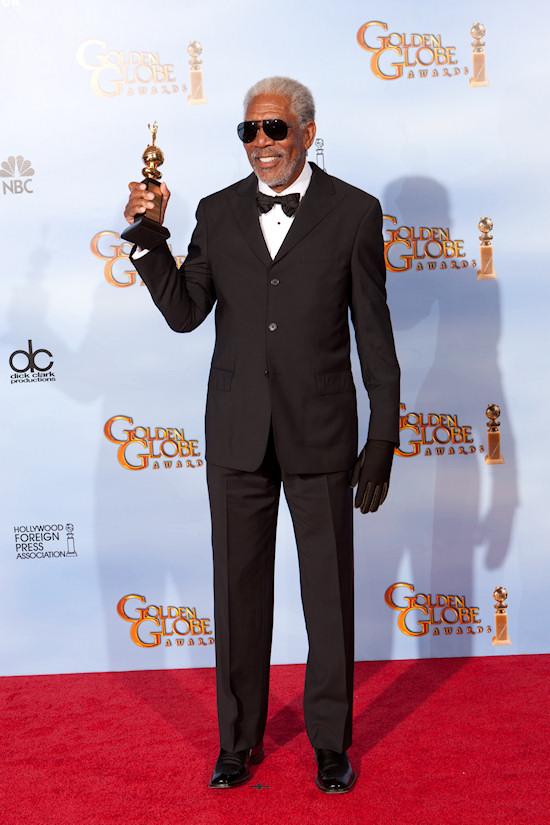Morgan Freeman @ Golden Globe Awards 2012