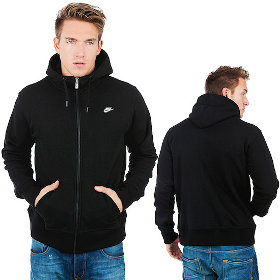 Nike Brushed Full Zip Hoody / Black