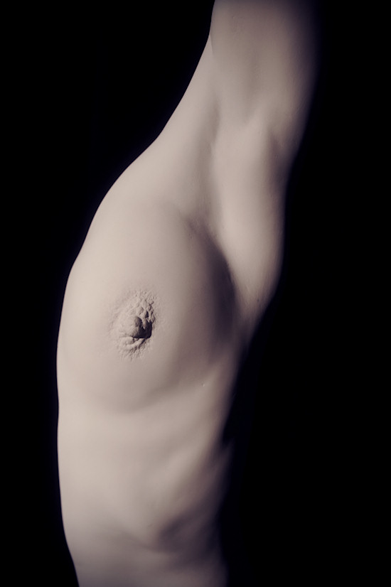 Plaster Sculpture by Juno: Female Breast