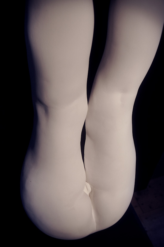 Plaster Sculpture by Juno: Female Legs and Bottom
