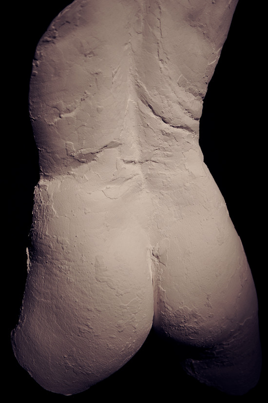 Plaster Sculpture by Juno: Female Bottom