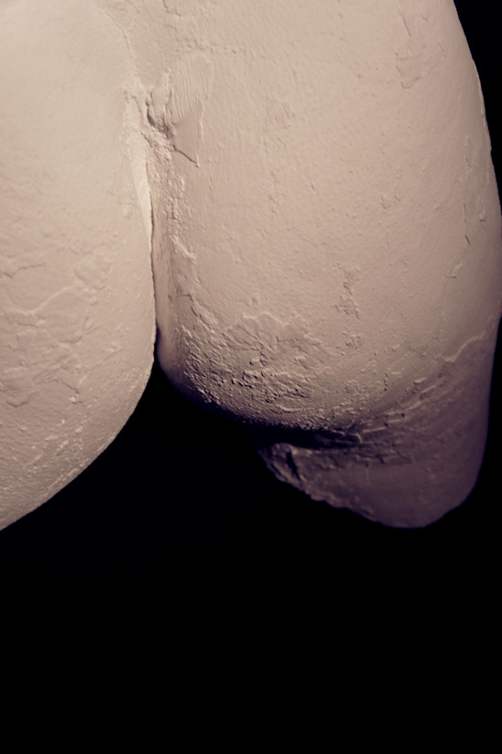 Plaster Sculpture by Juno: Female Bottom