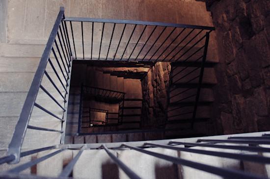 Going upstairs at Leonardo da Vinci Museum