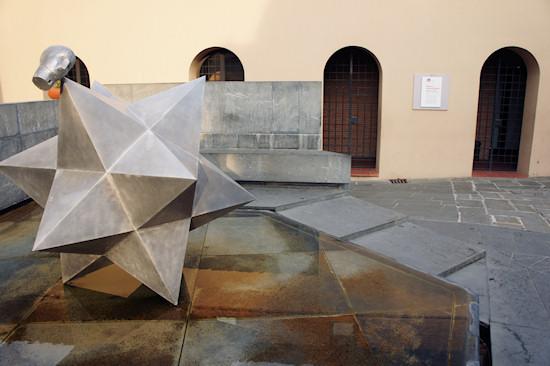Polyhedron and entrance to the Leonardo da Vinci Museum