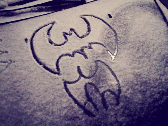 Batman Sign in Snow