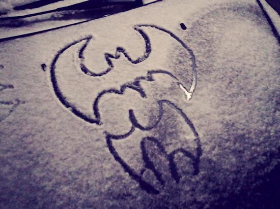 Batman Sign in Snow