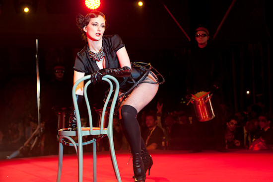 Burlesque Act @ Life Ball 2012