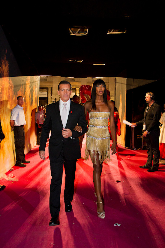Antonio Banderas and Naomi Campbell @ Life Ball 2012