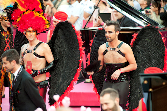 Male Angels @ Life Ball 2012 Magenta Carpet