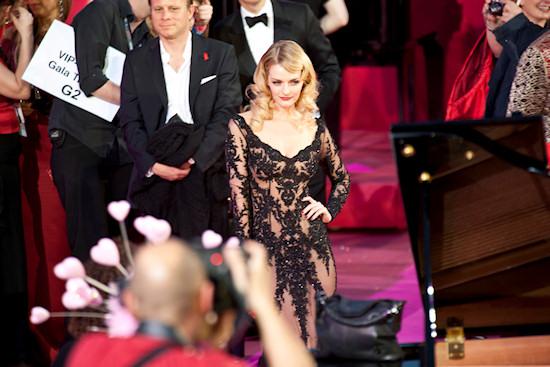 Lydia Hearst @ Life Ball 2012 Magenta Carpet