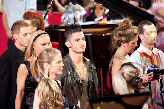 Baptiste Giabicon @ Life Ball 2012 Magenta Carpet