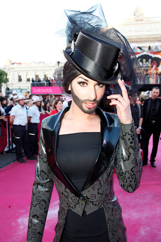 Conchita Wurst @ Life Ball 2012 Magenta Carpet
