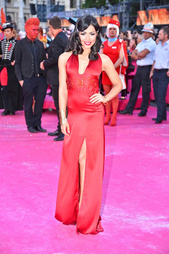 Fernanda Brandao @ Life Ball 2012 Magenta Carpet
