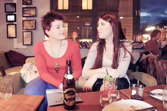 Bloggers Michi Schaaf and Miss Leichenblässe