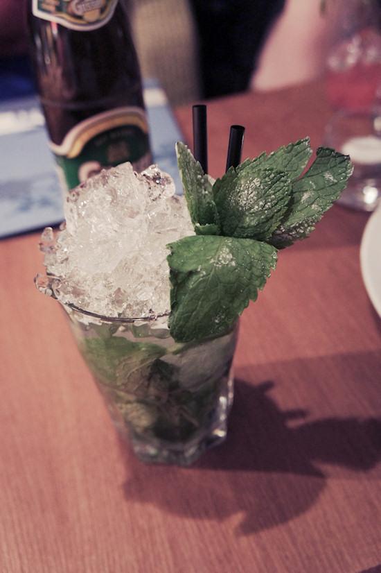 Mojito cocktail at Edison bar