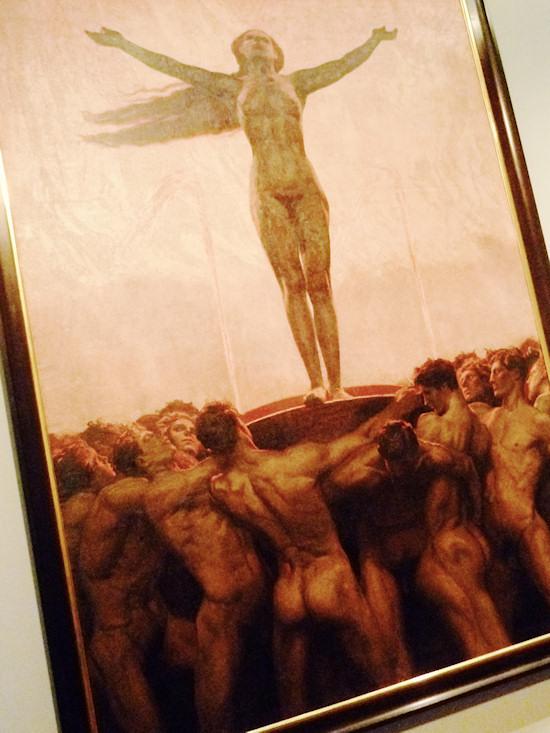 Nude Men: Sascha Schneider. Embers / Die Glut, 1904. Oil on canvas