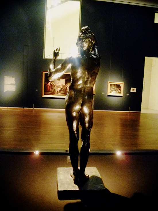 Nude Men: The Age Of Bronze (1875-76). Statue by Auguste Rodin (1840-1917)