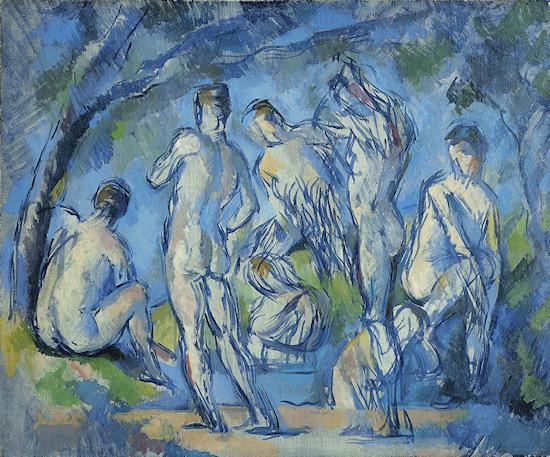 Nude Men: Paul Cézanne, Seven Bathers (Sieben Badende), circa 1900