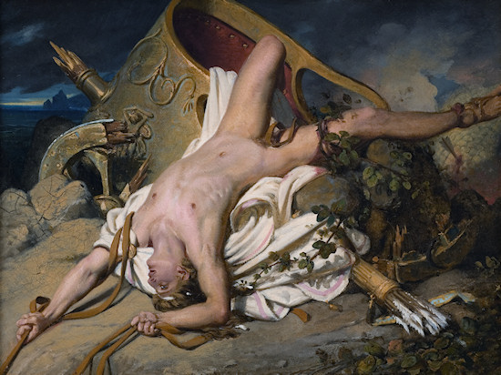 Nude Men: Joseph-Désiré Court, Death of Hippolytos, 1828