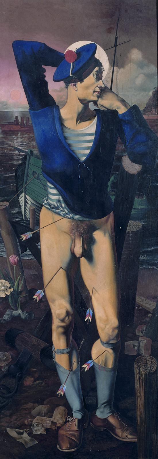 Nude Men: Alfred Courmes, Saint Sebastian (Self Portrait), 1934