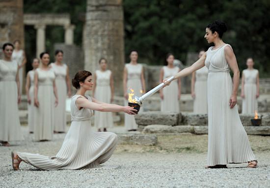 Olympic Torch Lighting Ceremony London 2012