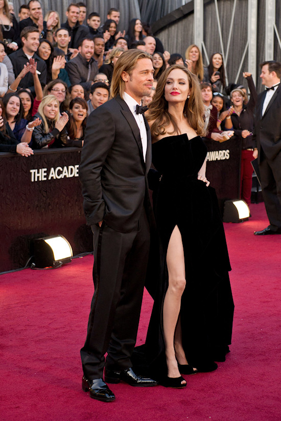 Oscars 2012: Brad Pitt and Angelina Jolie