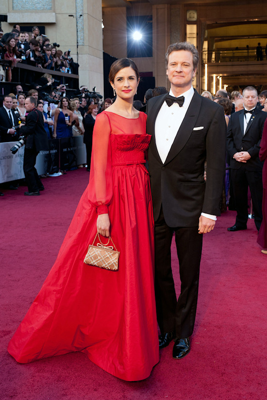 Oscars 2012: Livia and Colin Firth