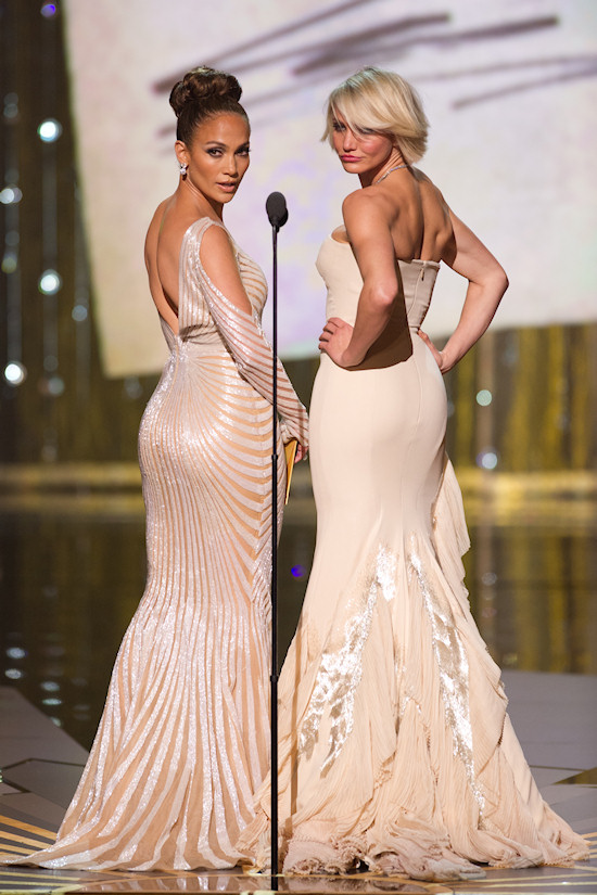 Oscars 2012: Jennifer Lopez and Cameron Diaz