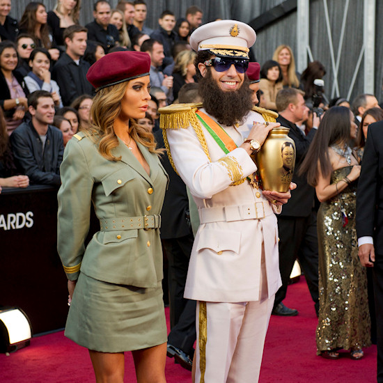 Oscars 2012: Sacha Baron Cohen as The Dictator with female bodyguard