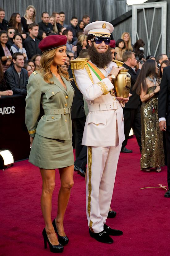 Oscars 2012: Sacha Baron Cohen as The Dictator with female bodyguard