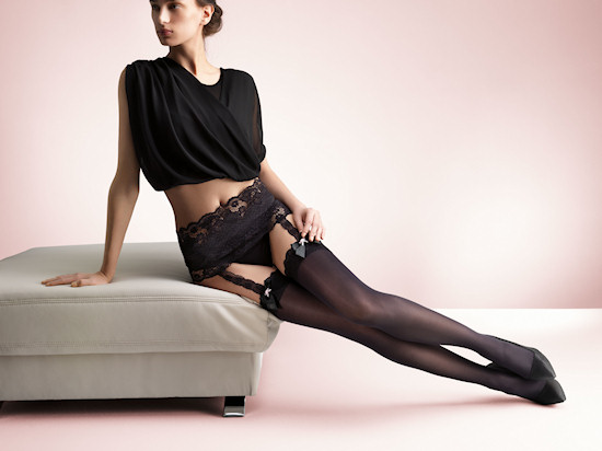 Palmers Moulin Noir Stockings with attached garter belt