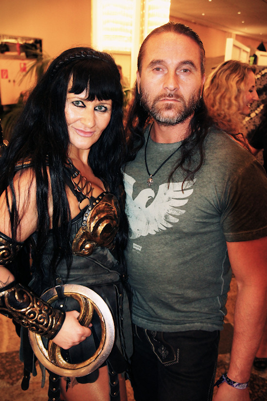 RingCon 2012 Fantasy Outfits: Xena and Aragorn