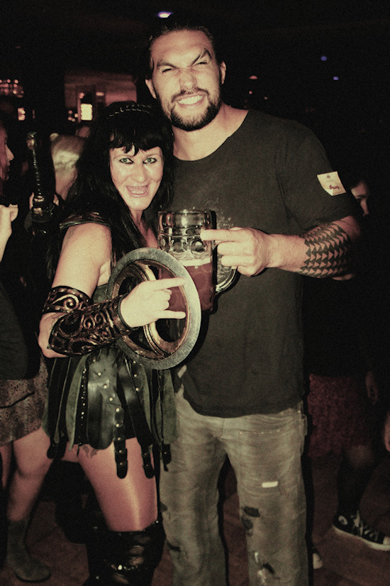 Jason Momoa (Khal Drogo) and Xena @ RingCon 2012