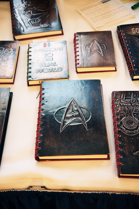 Notebooks with Star Trek cover @ RingCon 2012