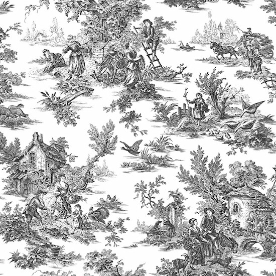Toile Wallpaper Wallcovering