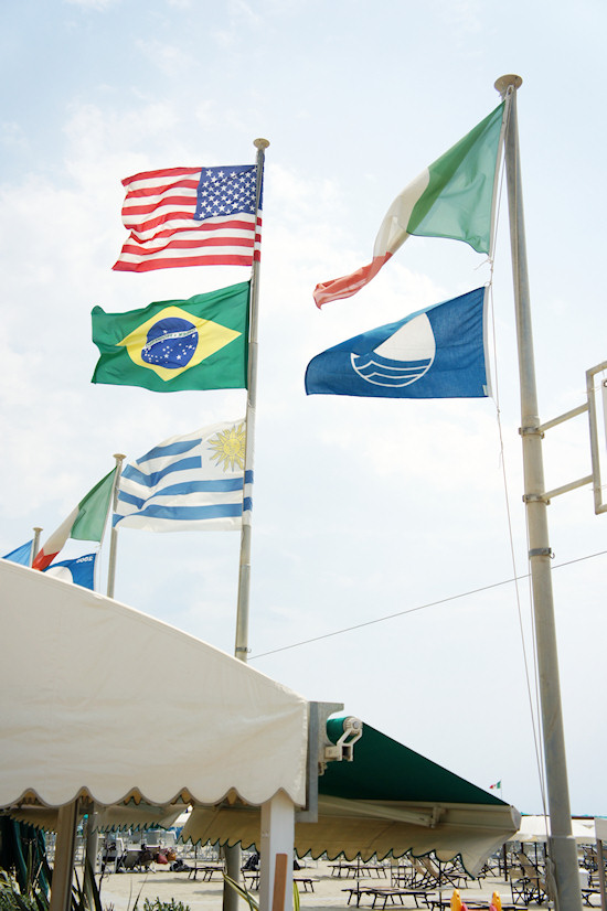 Viareggio Beach Resort Flags