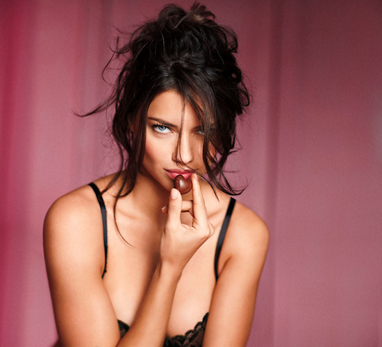 Adriana Lima for Victoria's Secret Valentine's Day