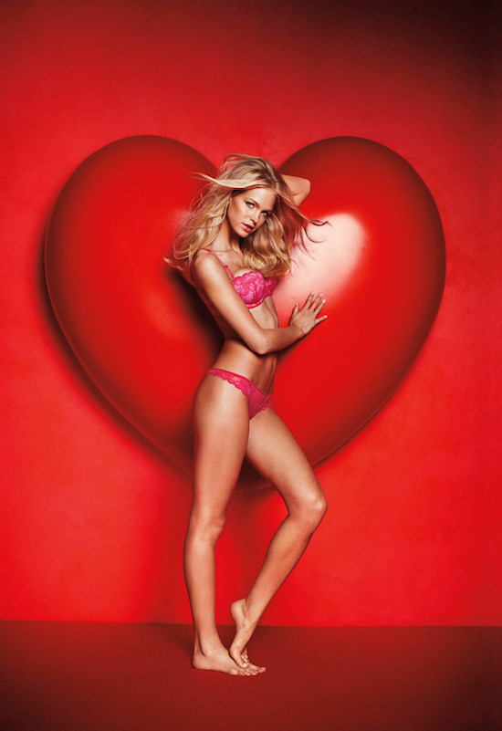 Erin Heatherton for Victoria's Secret Valentine's Day