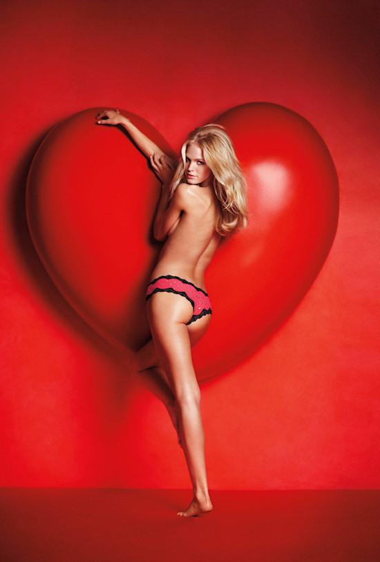 Erin Heatherton for Victoria's Secret Valentine's Day