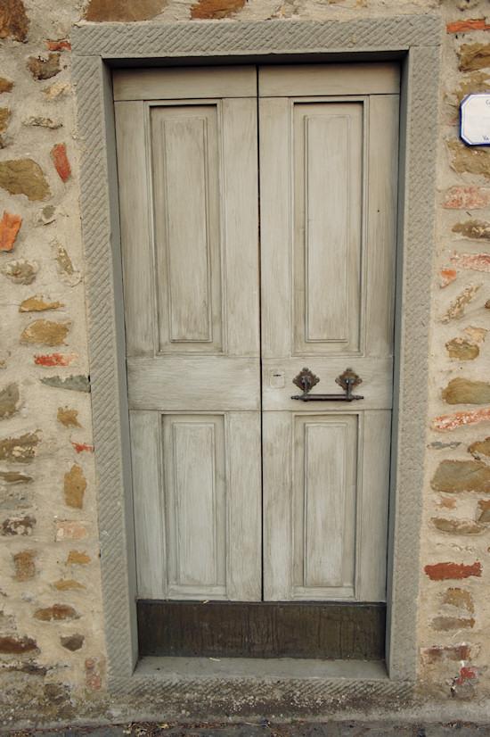 Vinci, Italy: A wooden door