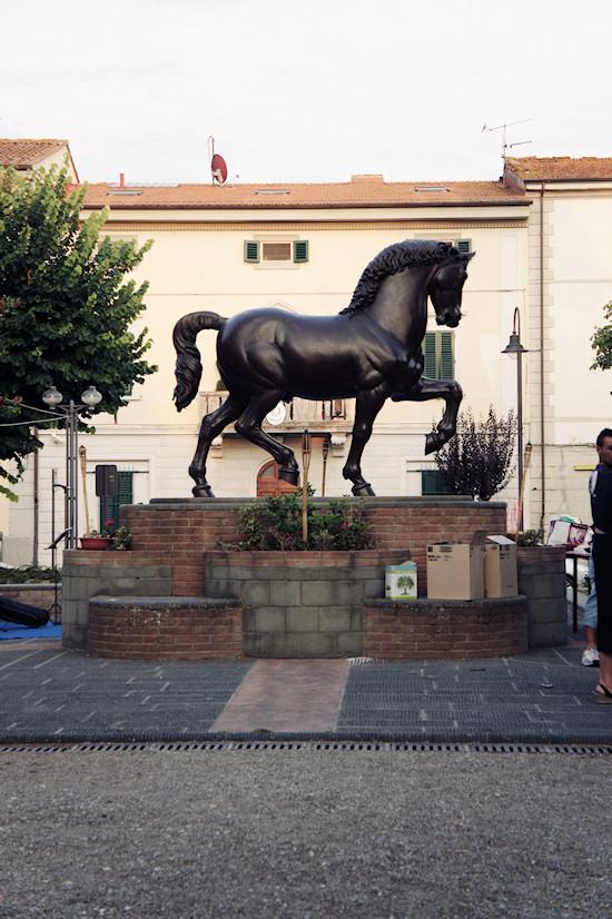 Leonardo's Horse at Piazza della Libertà in Vinci, Italy